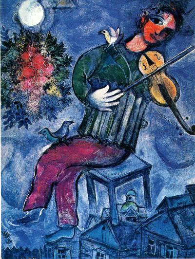 Marc Chagall – Il violinista blu